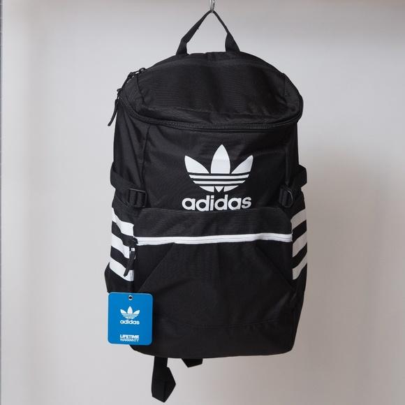 50d5d9eb2b Adidas Trefoil Backpack Black and White